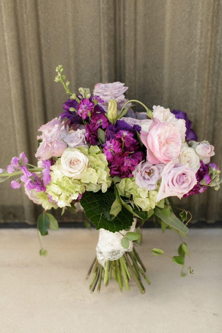 Vintage Modern Travel Inspired Wedding Ideas  My bouquet? - maybe more purple?