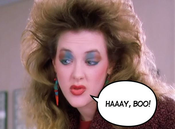 Joan Cusack Working Girl 80's makeup. Love that Long Island accent she had.