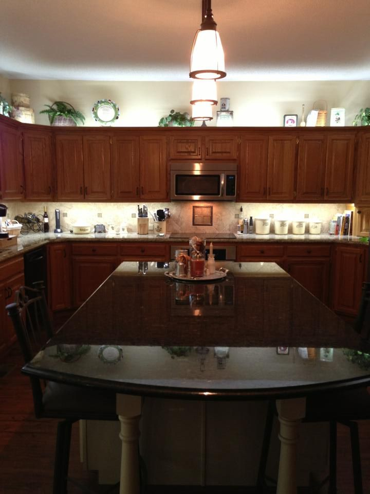 Kitchen Cabinets Wichita Ks 1. New Giant Island Painted Maple Wglaze Granite Countertops Splash Lighting