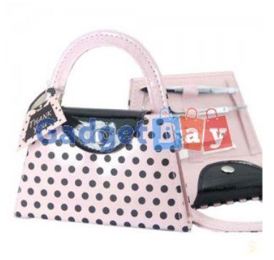 Pink Polka Dot Purse Manicure Set Women Bridesmaid Christmas Wedding Gifts Buy it on www.gadget-bay.com Free Shipping Europe wide