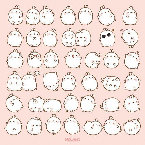캐릭터 | 귀여운 | 이모티콘 | 몰랑이 | Molang | Character | Cute | Kawaii  | Adorable | Lovely | かわいい | キャラクター |