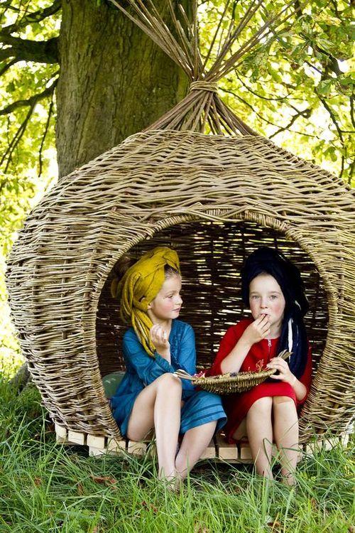 Meet Judith Needham of Wove, willow woven playhouses in Surrey, UK | Folksy / Magic Garden <3