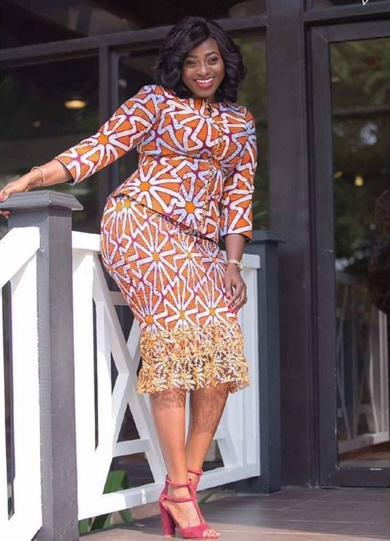 4c5a27fe560 Plus size ankara skirt and blouse styles for thick ladies