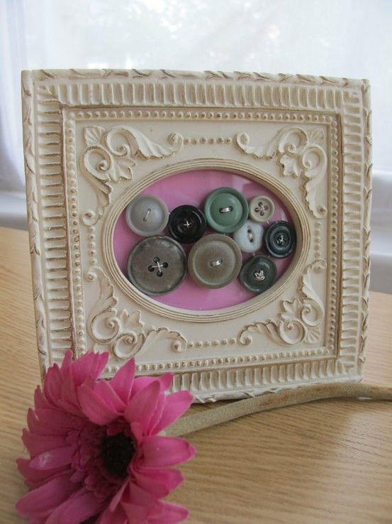 Frame vintage buttons   Find vintage and new buttons at Nanalulus Linens and Handkerchiefs