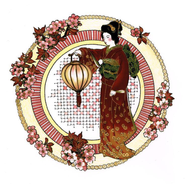 Mandala Geisha gemaakt door Beika Kruid