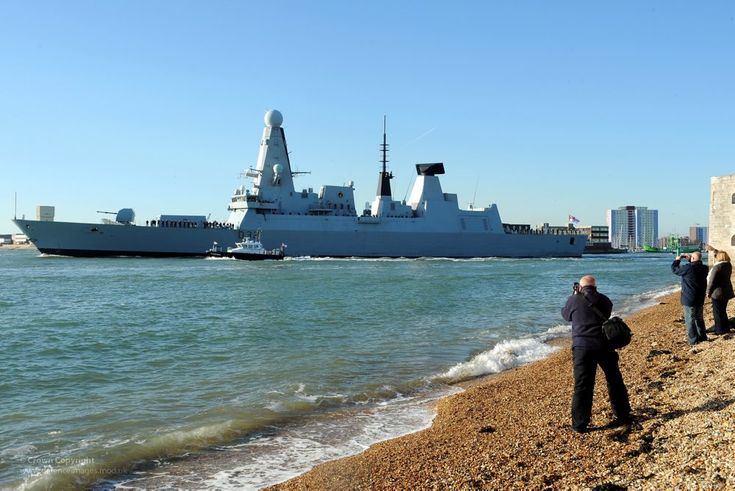 Type 45 Destroyer HMS Daring Leaves Portsmouth for First Operational Deployment | Flickr - Photo Sharing!