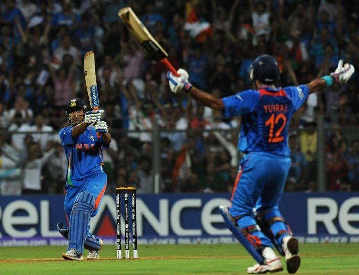 That Six by MS Dhoni .That night at Wankhede. That North Stand Crowd in background. #MyBeautifulLife