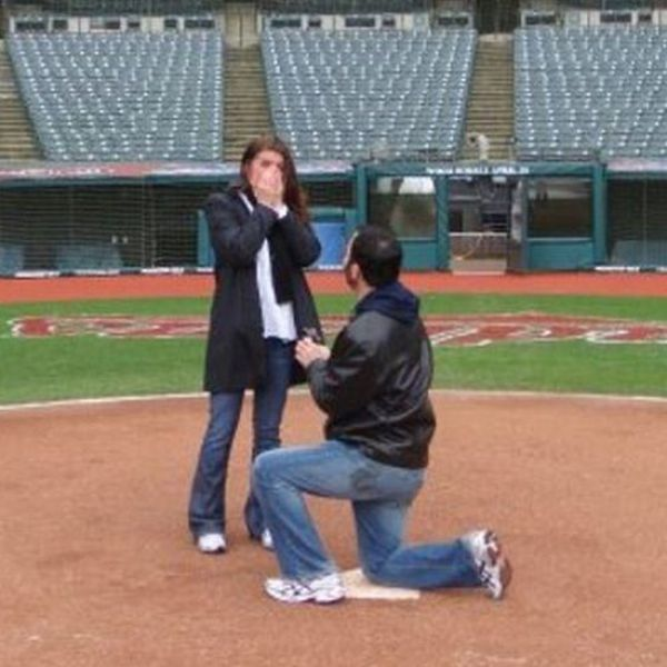 Marriage Proposal On The Baseball Field! Dream Come True