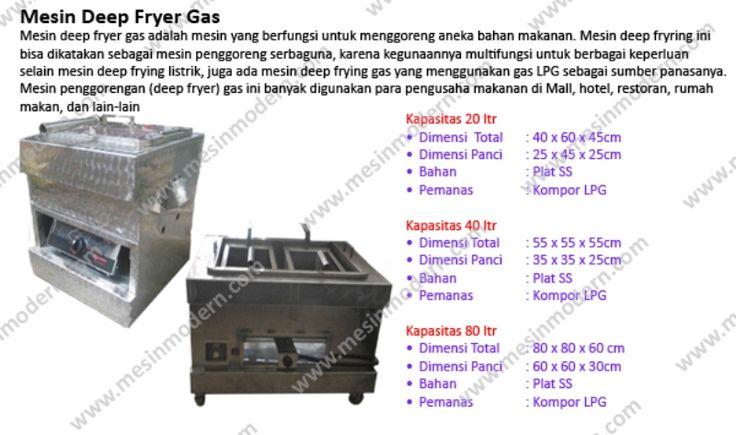 Jual Mesin Deep Fryer Gas Murah