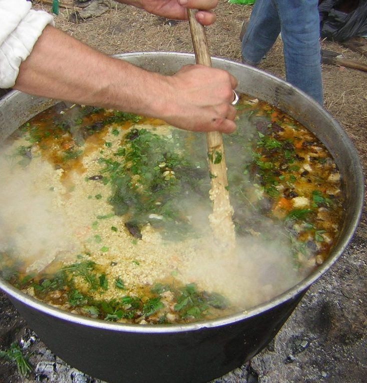 Вкуснейший казацкий суп на костре