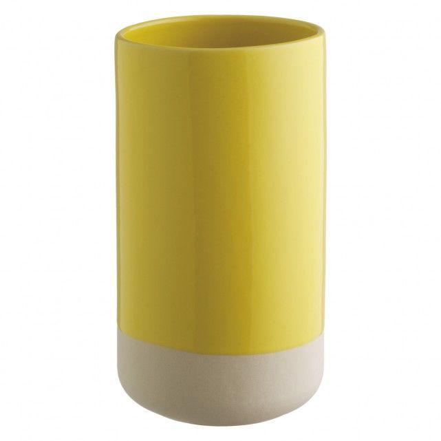 GARDA Yellow ceramic vase