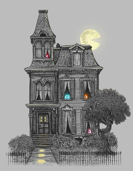 Clever! I always wondered where Inky, Blinky, Pinky and Clyde lived when they weren't chasing Pac Man.