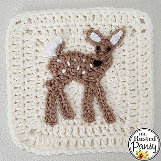 Ravelry: Whitetail Fawn Applique pattern by The Rusted Pansy