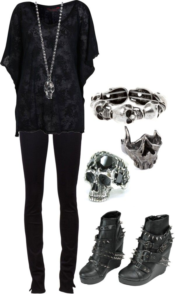 """Skulls!!!"" by bvb3666 on Polyvore"