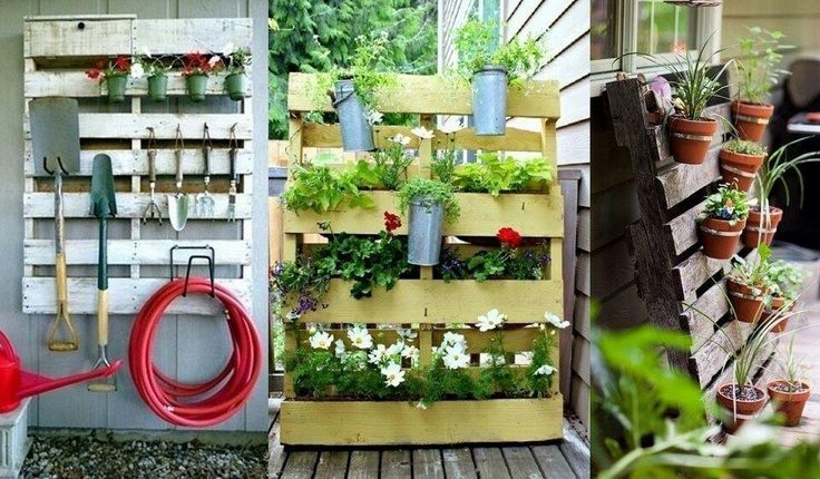 Pallets idea @ the garden