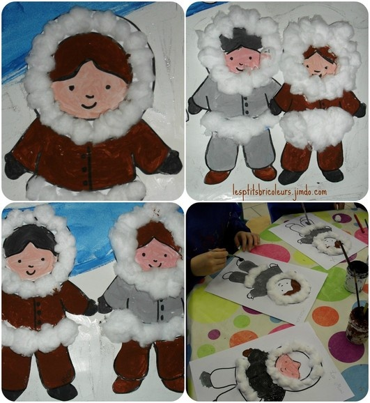 Bricolages deco Noël polaire en maternelle