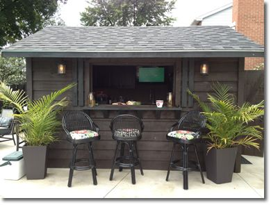 pool shed bar - Google Search