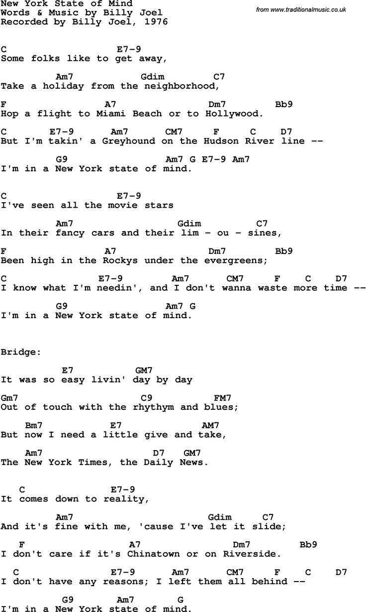 ALICIA KEYS - EMPIRE STATE OF MIND LYRICS
