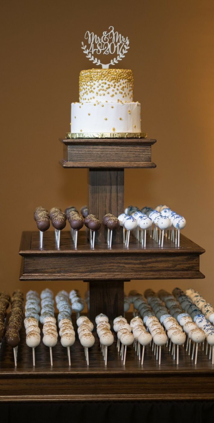 Cake Pop Wedding Cake #cakepops #weddingcake #weddingcakeideas #alternativeweddingcake #nontraditionalweddingcake