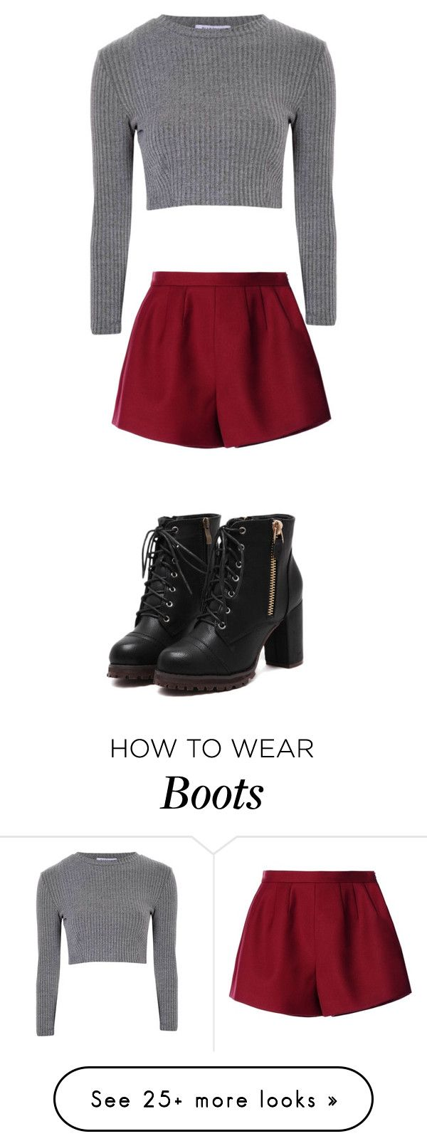 """Best boots"" by dolphinsrcool2014 on Polyvore featuring Mode, RED Valentino und Glamorous"