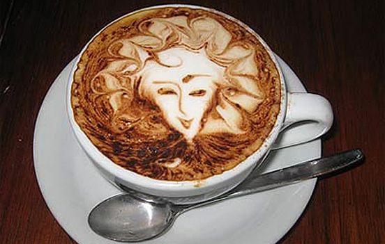 Coffee foam art!
