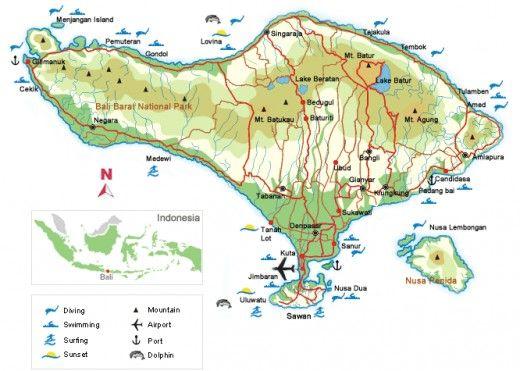 Bali Island in Indonesia, Southeast Asia