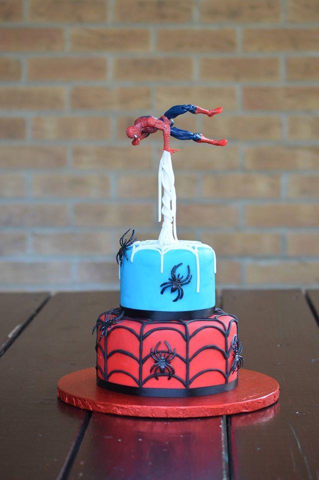 Spiderman cake www.facebook.com/bespokecakesbylina