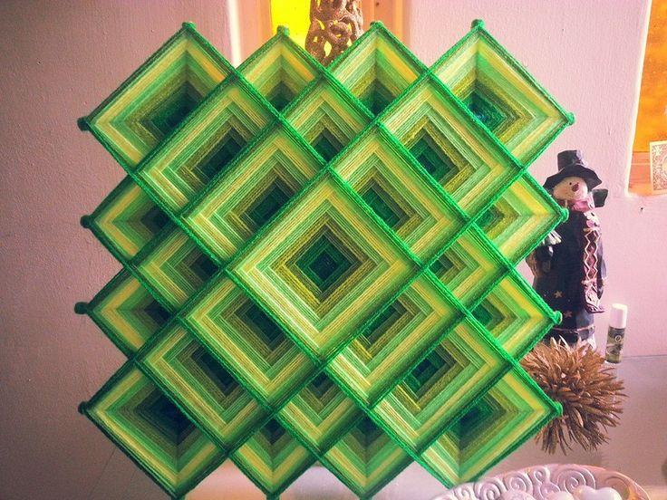 Mandala Tibetano en verdes
