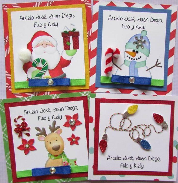 Tarjetas de Navidad . Un detalle especial para tus regalos navideños. Facebook Crafts by Iris @craftsbyiris