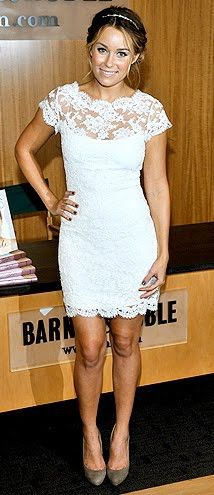 short lace dress - want this for rehearsal dinner