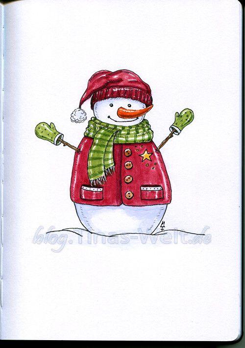 Ein Schneemann zum ersten Advent
