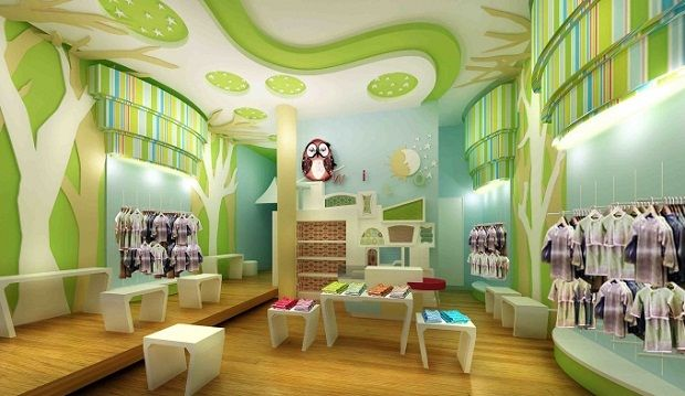 kids boutique interior design clothes racks pinterest boutique interior design boutique interior and laminate flooring - Childrens Bedroom Wall Painting Ideas