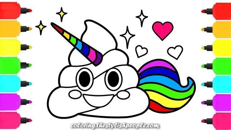 Unicorn Emoji Coloring Taken