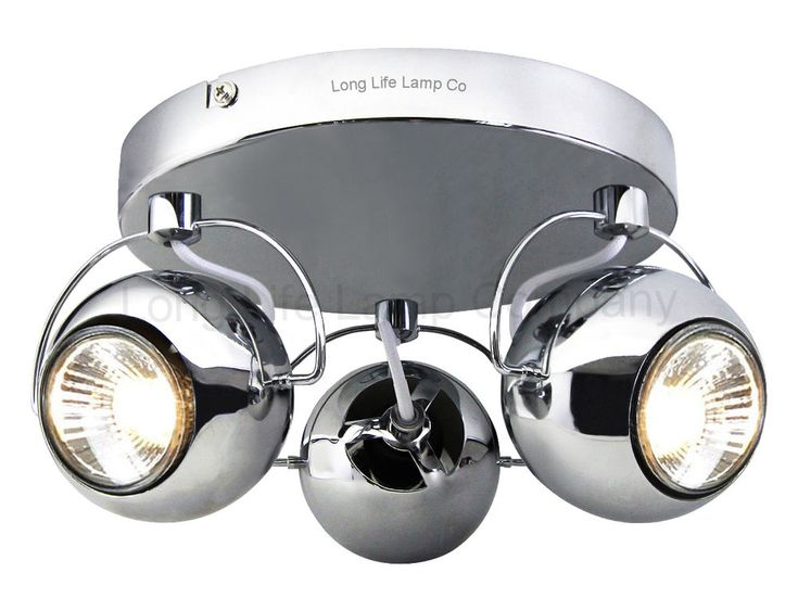 Retro CHROME 3 Way Adjustable Eyeball Ceiling Spotlight Lamp GU10 in Home, Furniture & DIY, Lighting, Wall Lights | eBay!