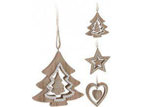 Vánoční ozdoba dřevěná s výřezem