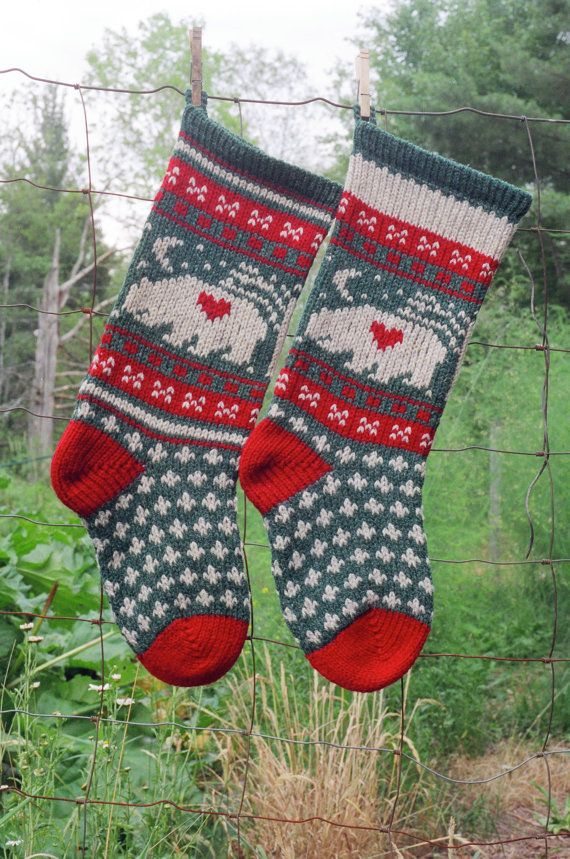 Christmas Stockings Knit Patterns. Fair Isle Christmas Stocking ...