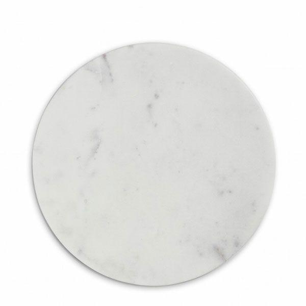 White Marble Skjærebrett, Rund, Hvit - Nordstjerne - Nordstjerne - RoyalDesign.no