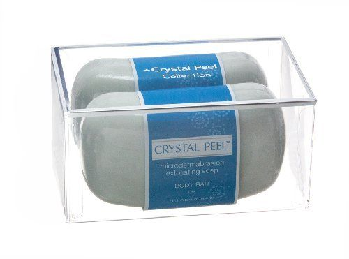 Crystal Peel Microdermabrasion Exfoliating Soap Body Bar Duo, 16 Ounce by Crystal Peel. Save 10 Off!. $43.26. Buffs away dull dry skin. Helps even out hyperpigmentation. Stimulates collagen production. Body buffing soap duo reveals smoother, younger looking skin. The crystal peel exfoliating body soap duo delivers the benefits of microdermabrasion to the shower with a quick exhilarating lather. The soap's brisk polishing action helps stimulate new collagen production and buff away...
