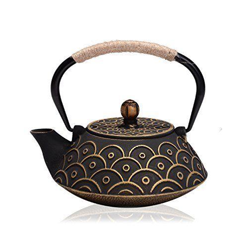 Amazon.com | Japanese Tetsubin Cast Iron 40 oz Aztec Teapot: Teapots