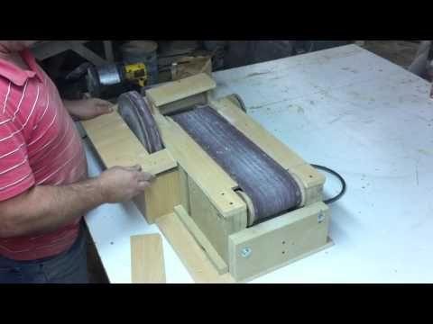 wide belt sander buffering. homemade belt sander 5. the finished sander! - youtube wide buffering