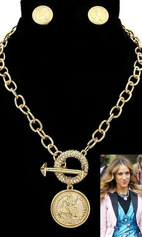 'JEN' CRYSTAL TOGGLE STATEMENT CHAIN NECKLACE SET
