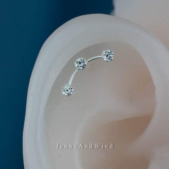Helix piercing kraakbeen oorbel helix earring kraakbeen