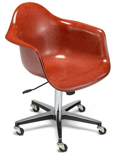 Case Study Arm Shell Rolling Base Chair By Modernica Fiberglass Shell  Chairs. A Midcentury Case Study Fiberglass Shell Chair By Modernica  Furniture Los ...