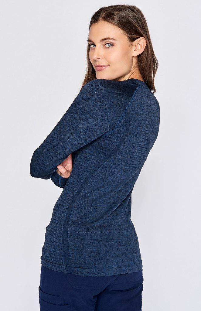 23709ab3bf6 Our seamless longsleeve underscrub is feather-light and takes you from cold  hospitals to sweaty