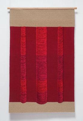 "Silk  Carolina Yrarrázaval   linen, cotton and silk  44"" x 29.5"" x 1.25"", 2011"