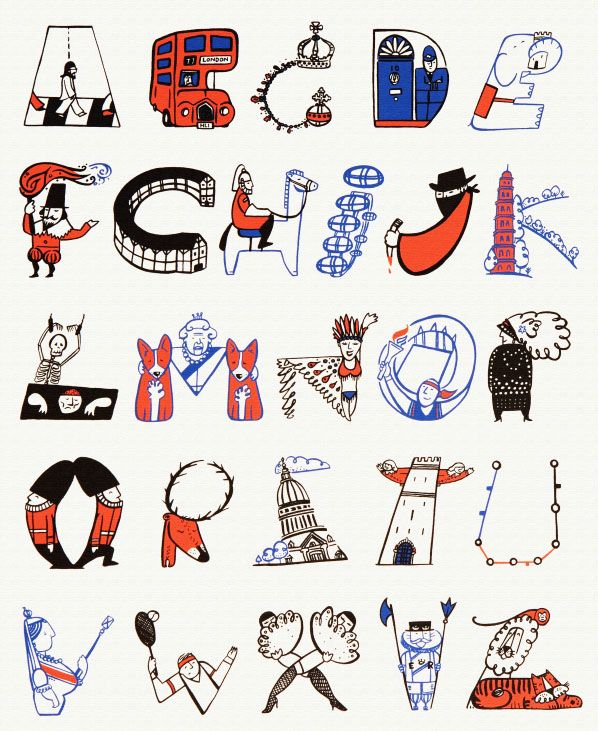 London Alphabet by Helen Lang