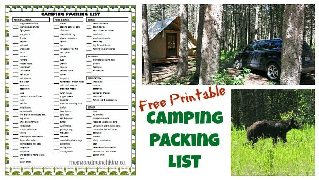 Camping Packing List (Free Printable) #Camping