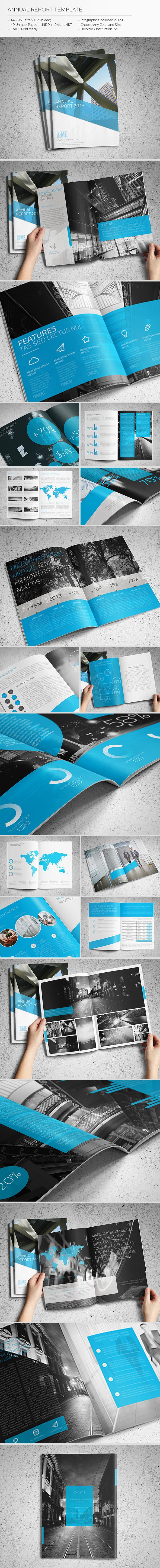 Annual Report Template by Realstar , via Behance #report #design