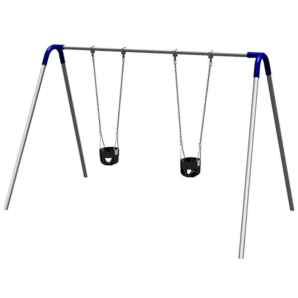 Swings are the most popular item on the playground, and UltraPlay's Bipod Swing Set delivers years of swinging fun. Swings help children build muscle tone and strength, and promote sharing and healthy social interactions. This toddler swing set model gets kids started early, with two commercial-gra