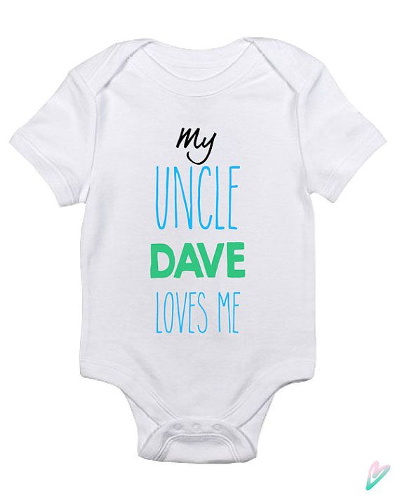 30 best cute onesies images on pinterest onesies babies personalized my uncle loves me baby clothes infant by teenietees negle Images